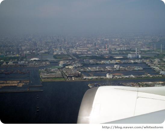 도쿄 상공에서 바라본 오다이바